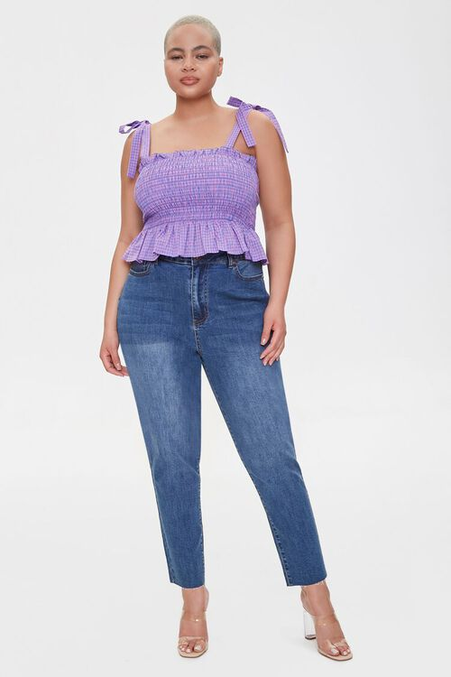 Plus Size Signature High-Rise Mom Jeans, image 1