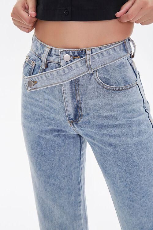 Crisscross Belt Straight-Leg Jeans, image 5