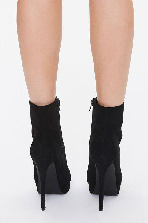 BLACK Faux Suede Stiletto Booties, image 3