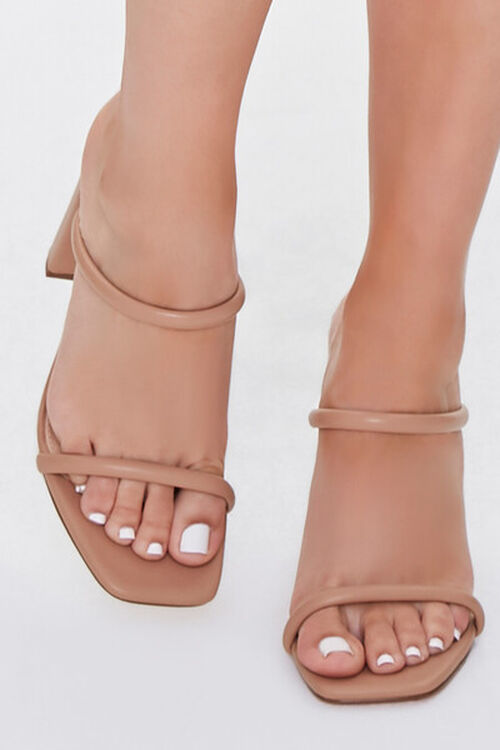 NUDE Faux Leather Block Heels, image 4