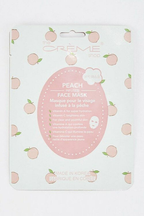 WHITE/PINK Peach Infused Sheet Mask, image 1