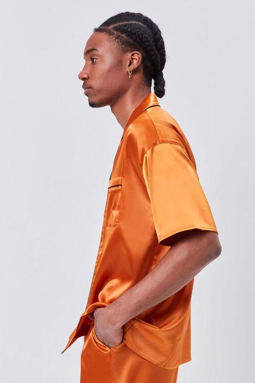 Satin Piped-Trim Shirt, image 2