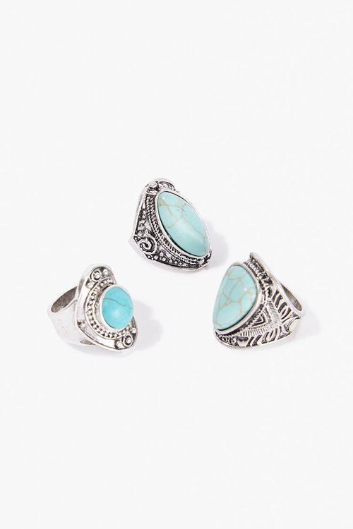 Chunky Stone Ring Set, image 2