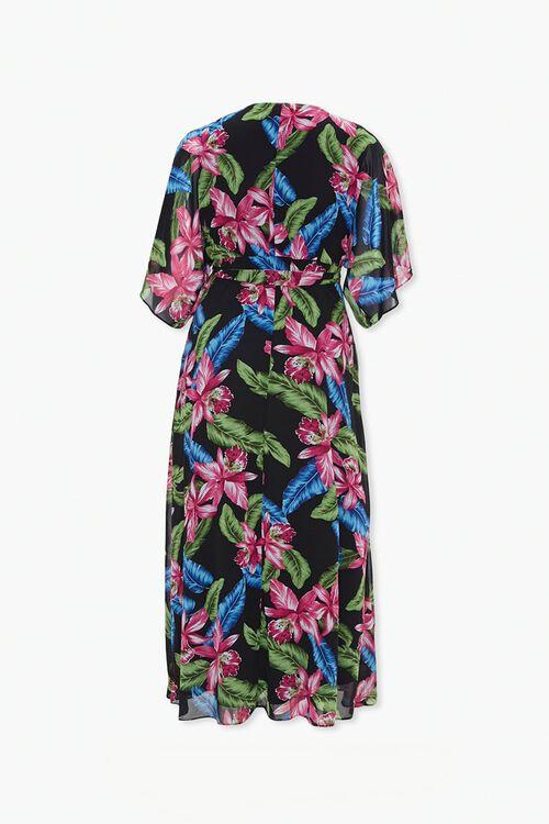 Plus Size Tropical Wrap Dress, image 2