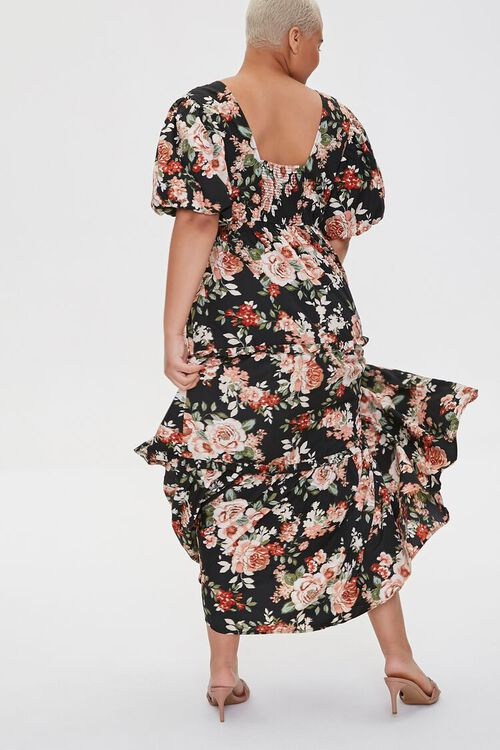 Plus Size Floral Tiered Maxi Dress, image 4