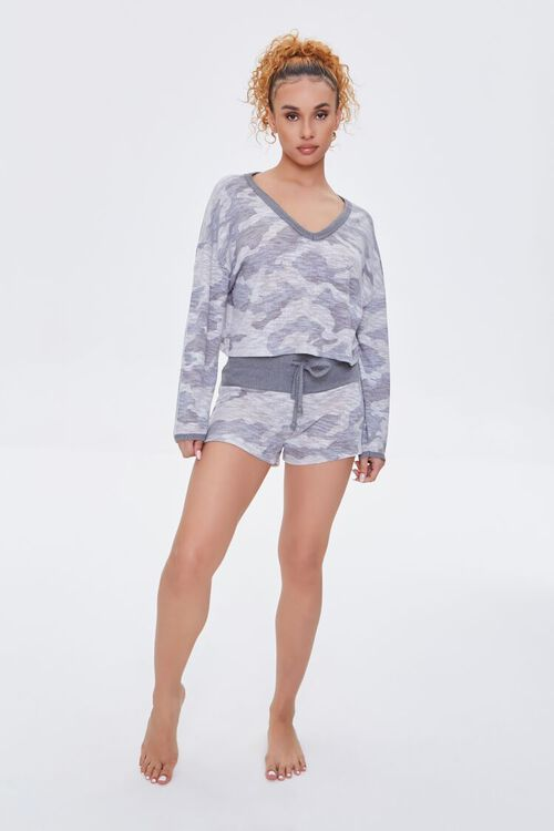 Camo Print Pajama Top, image 5