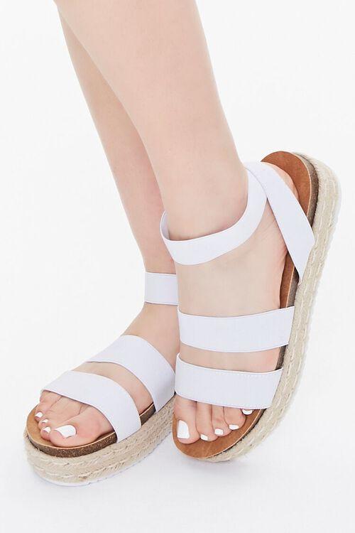 WHITE Espadrille Flatform Sandals, image 1