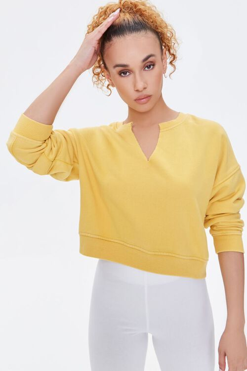 Split-Neck Sweatshirt, image 1
