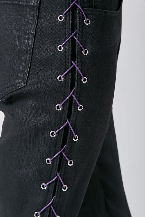 Lace-Up Skinny Jeans, image 5