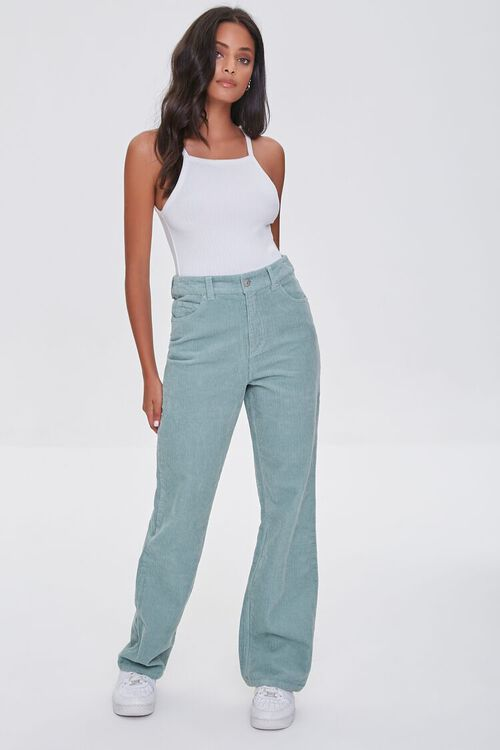 SAGE Ribbed Relaxed Pants, image 1