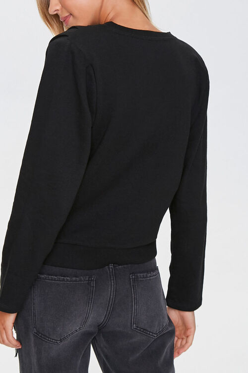 BLACK Pintucked Long-Sleeve Top, image 3