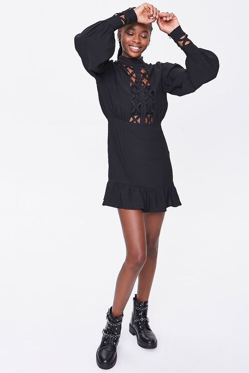 Cutout-Trim Mini Dress, image 4