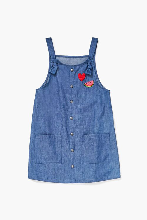 Girls Chambray Overall Dress (Kids), image 1