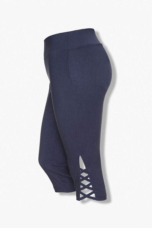 Plus Size Caged Capri Leggings, image 1