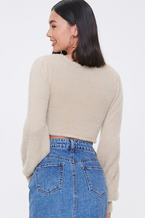 Fuzzy Knit Cropped Sweater, image 3