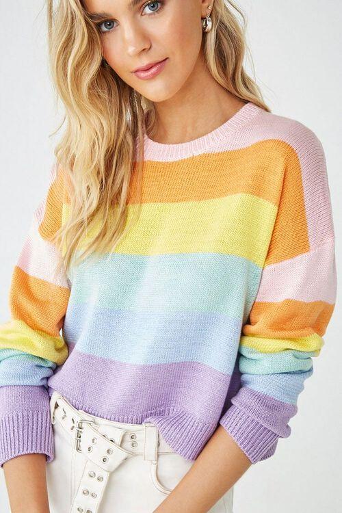 Rainbow Striped Sweater, image 1