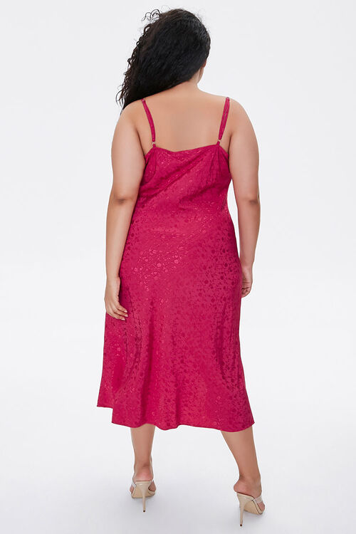 Plus Size Monochrome Print Midi Dress, image 3