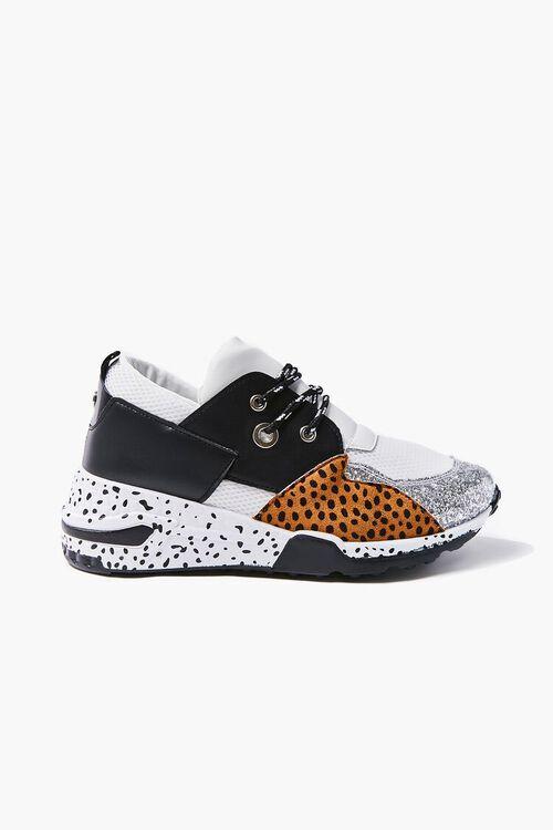 Patternblock Cheetah Print Sneakers, image 1