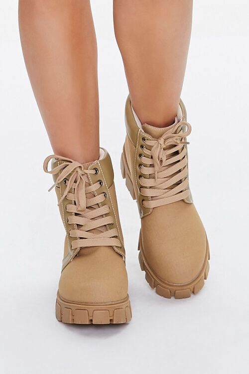 Lug Sole Lace-Up Ankle Boots, image 4
