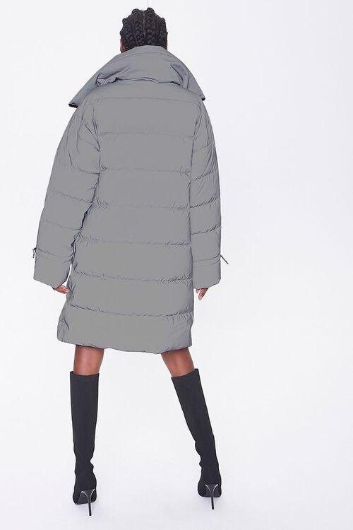 Longline Zip-Up Puffer Jacket, image 3