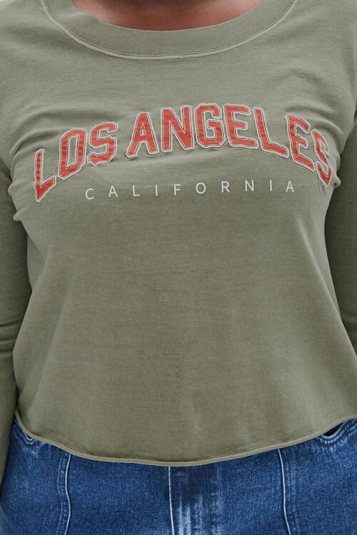 Plus Size Los Angeles Graphic Top, image 5