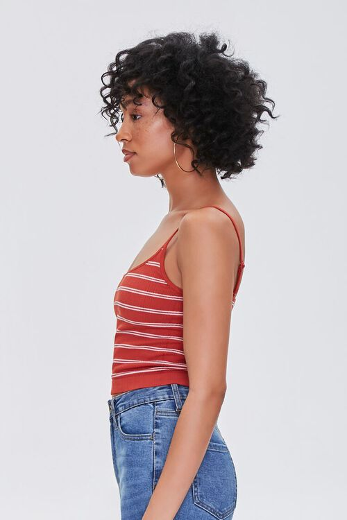 RED/WHITE Striped Scoop-Neck Cami, image 2