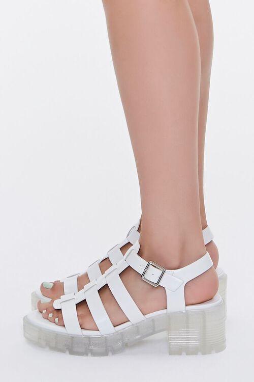 Caged Flatform Block Heels, image 2