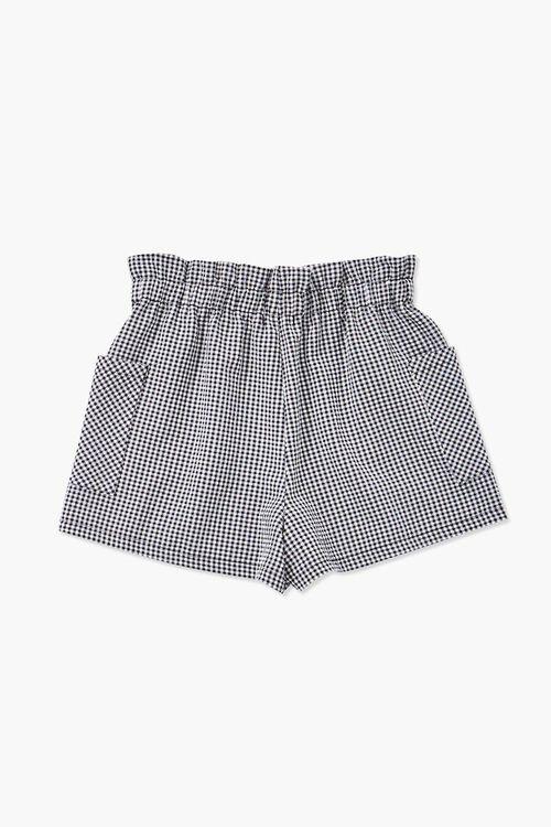 Girls Gingham Drawstring Shorts (Kids), image 2