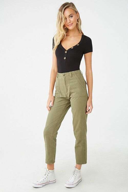 Textured Button Front Top, image 4