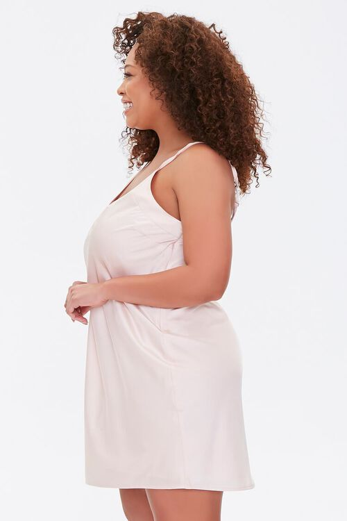 Plus Size Satin Slip Dress, image 2