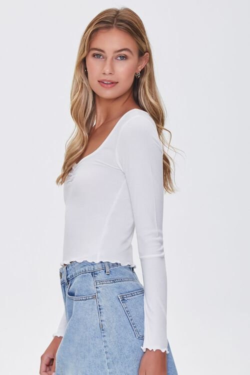 Lettuce-Edge Ribbed Top, image 2
