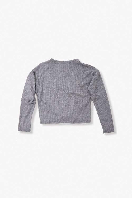Girls Ribbed Knotted Top (Kids), image 2