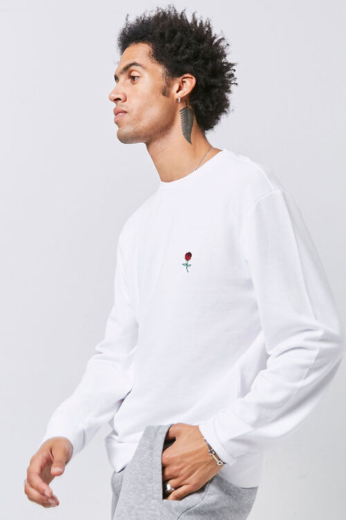 Embroidered Rose Sweatshirt, image 2
