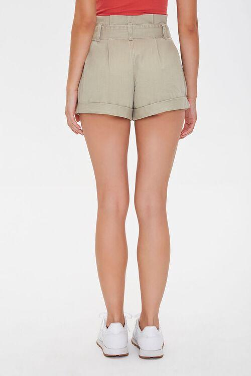 Belted Paperbag Denim Shorts, image 4