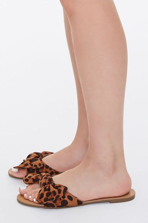 Knotted Leopard Print Sandals, image 2