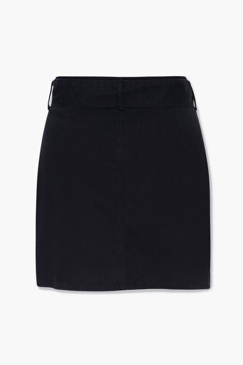 Plus Size Belted Denim Mini Skirt, image 3