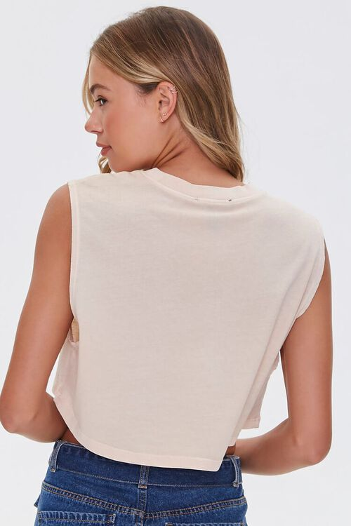 TAUPE/MULTI Born Wild Graphic Muscle Tee, image 3