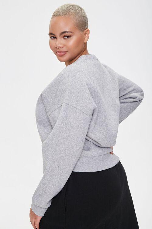 Plus Size Fleece Crew Neck Sweatshirt, image 2