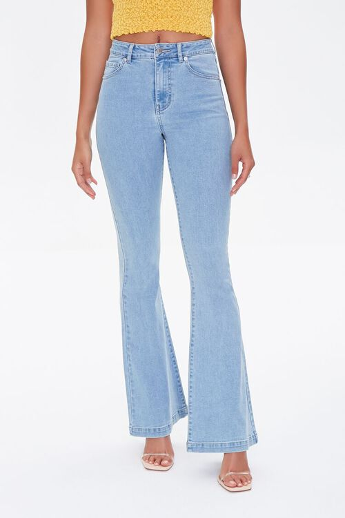 Clean Wash Flare Jeans, image 2