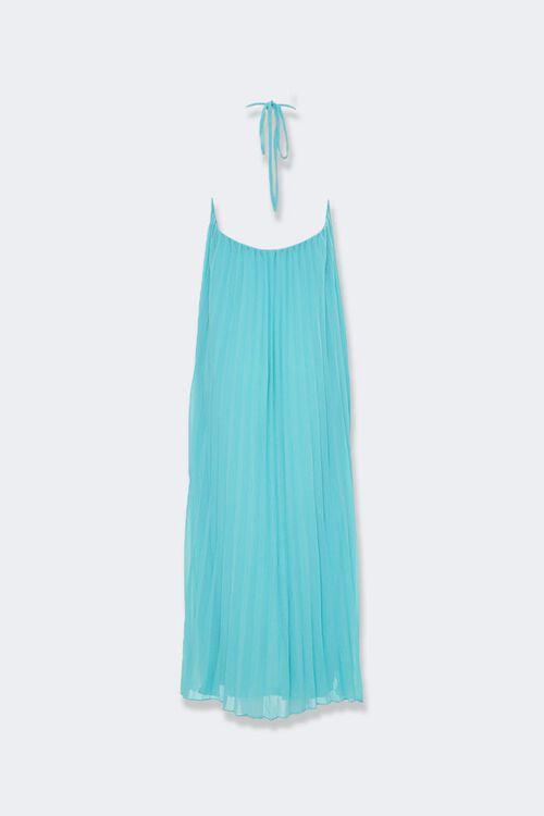 Pleated Halter Maxi Dress, image 2