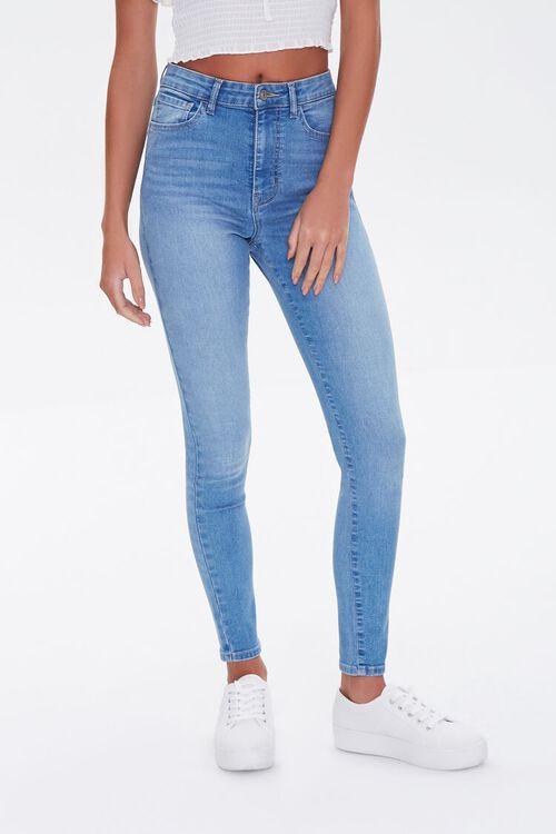 MEDIUM DENIM Essential High-Rise Skinny Jeans, image 2