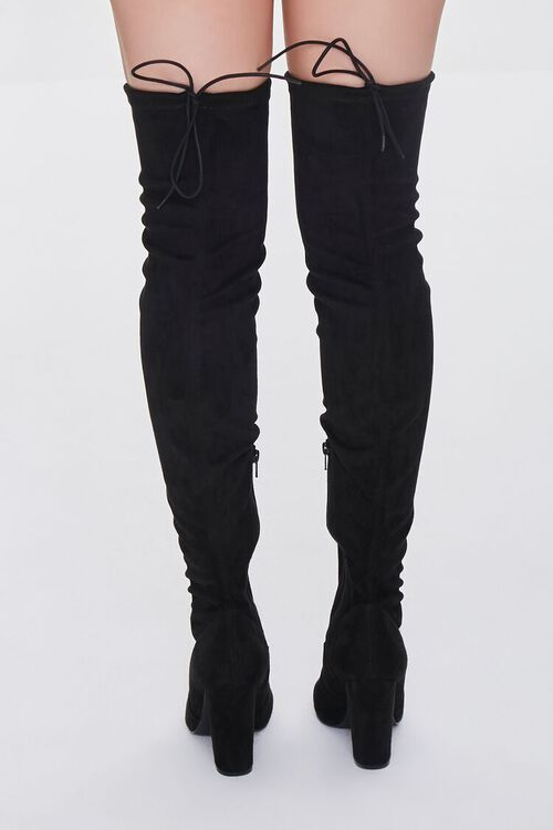 BLACK Faux Suede Over-the-Knee Boots, image 3
