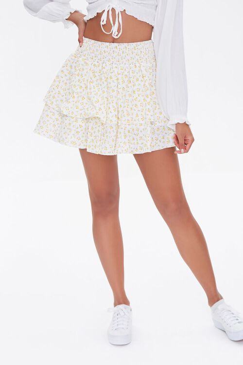 Floral Mini Skirt, image 2
