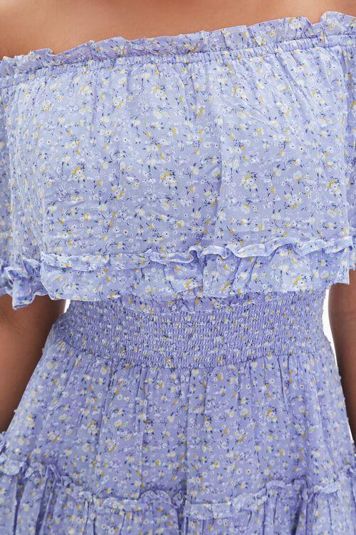 Off-the-Shoulder Floral Print Dress, image 5