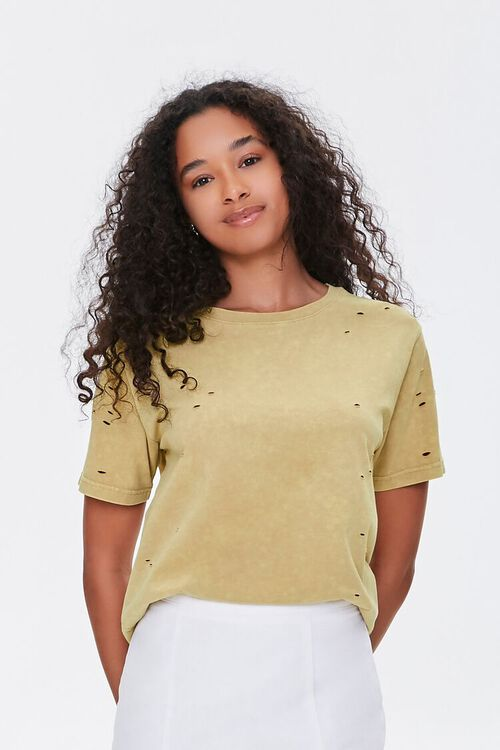 Distressed Mineral Wash Tee, image 1