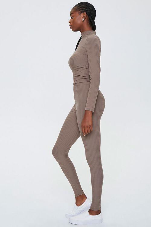 Mock Neck Top & Leggings Set, image 2