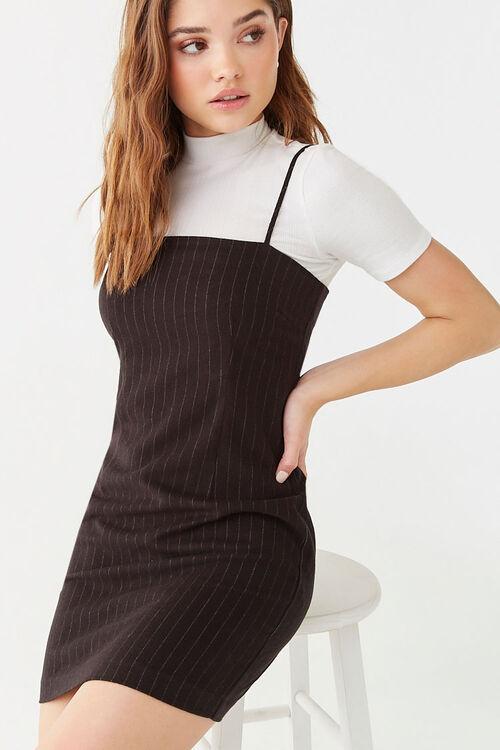 Pinstriped Mini Dress, image 1