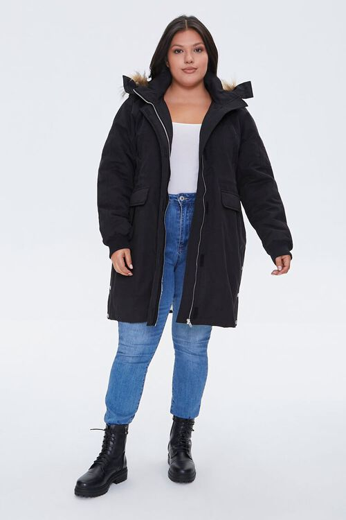 Plus Size Faux Fur-Trim Parka, image 4