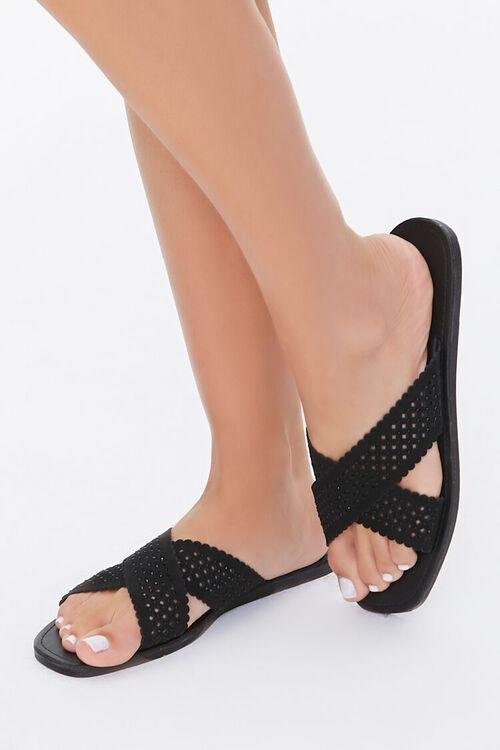 Crisscross Slip-On Flat Sandals, image 1