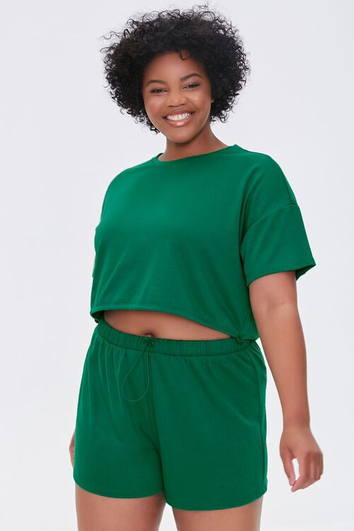 JADE Plus Size French Terry Shorts, image 1
